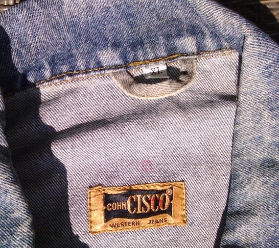 0017c845bec7 Vintage Cohn Cisco Western Jeans Herren Jacke Denim blau Baumwolle Größe XL