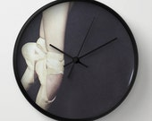 Ballerina Wall Clock, Ballet Photo Wall Clock, Pointe Shoes Wall Clock, Modern Wall Clock, Retro Wall Clock, Home Decor, Round Clock