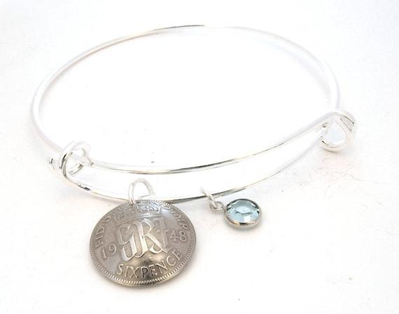 70th Birthday Gift For Grandma Charm Bracelet