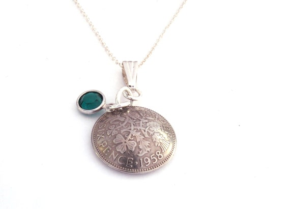 For a 60th Birthday 60th Birthday Necklace Sterling Silver  f1130751a0c1