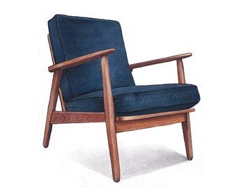 Mid Century Modern Chair Etsy