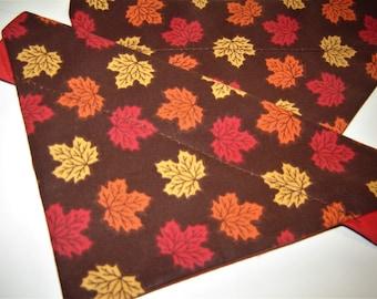 Autumn Leaves Dog Scarf Over the Collar Dog Bandana