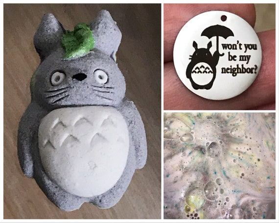 Totoro Bath Bomb with Charm