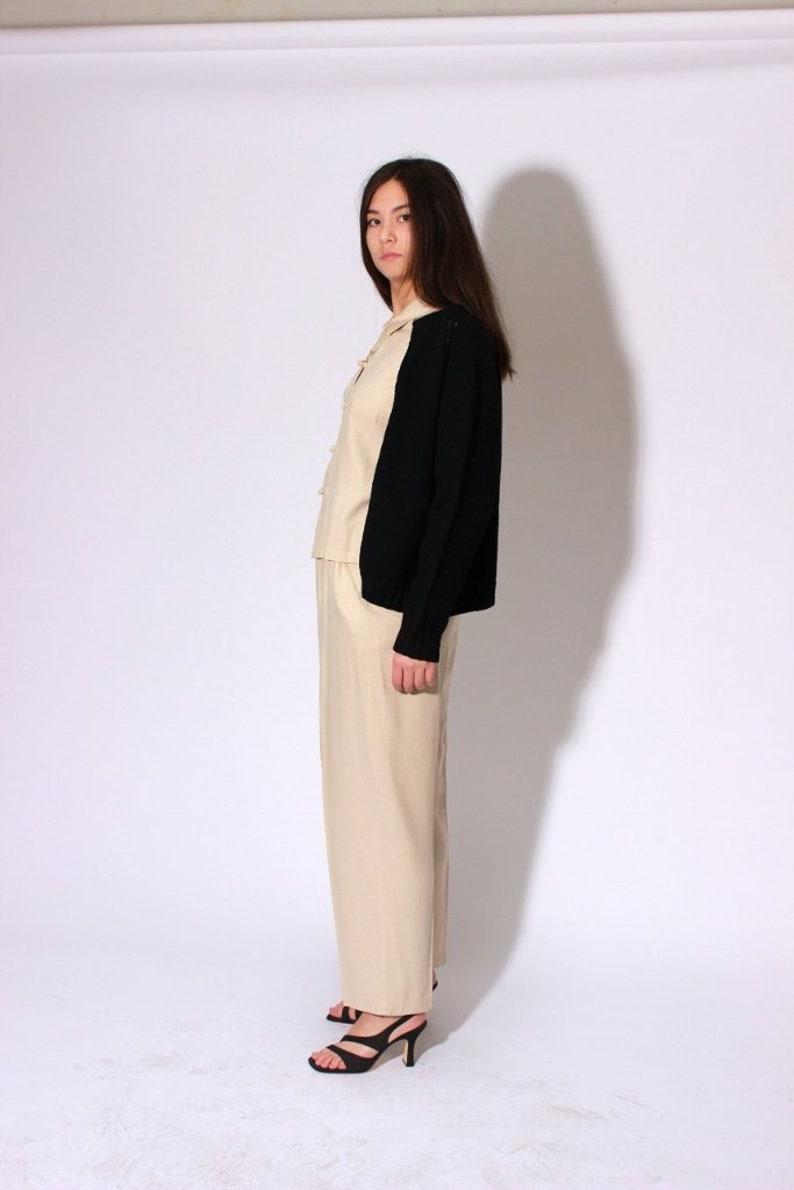Black Open Cardigan Sweater  M L