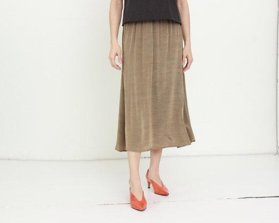 80s Taffeta Swing Skirt