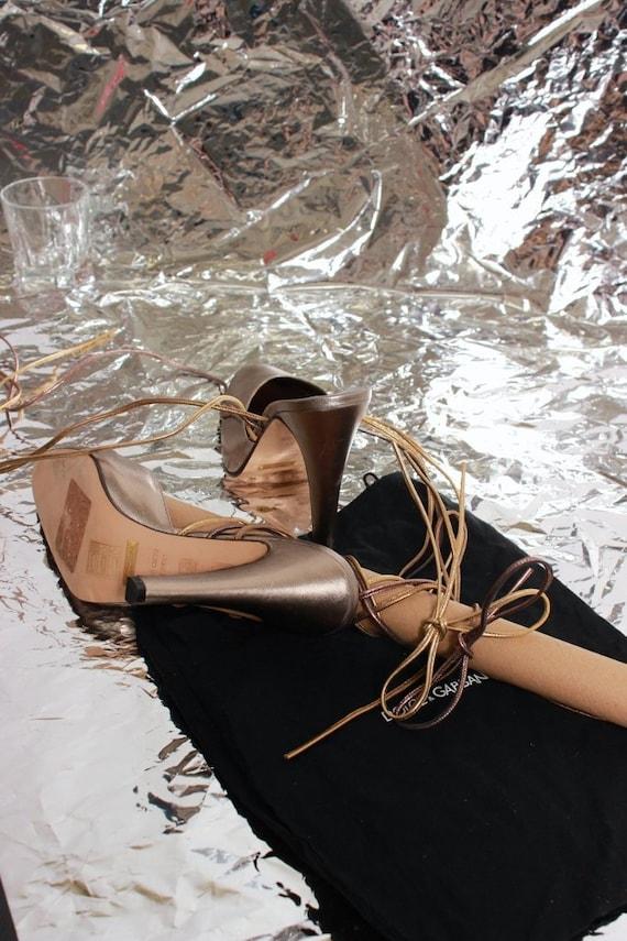 Dolce enrouler Mules Gabbana argent de amp; autour 8q8ntWwrg