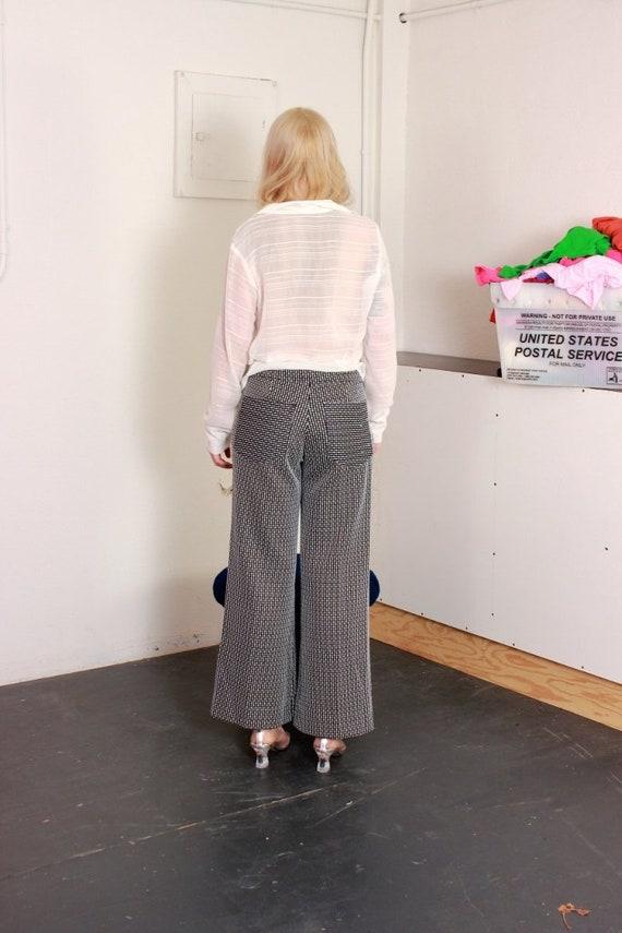White Striped Sailor Pants / Large