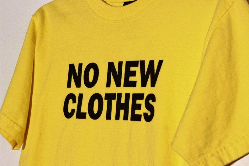 36d2c2ba5c793 No New Clothes Tee in Lemon Yellow / Bright Yellow Graphic Shirt / Medium