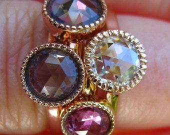 Custom Design: Bezel Stacking Rings
