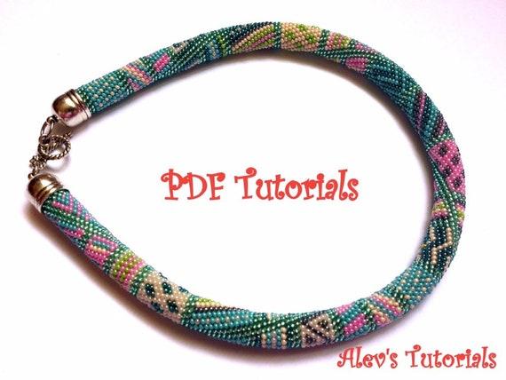 Caribbean Sea Crochet Bead Necklace Pattern Crochet Bead Etsy