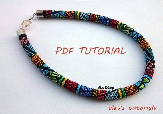 Anemone Crochet Bead Necklace Pattern Crochet Bead Etsy
