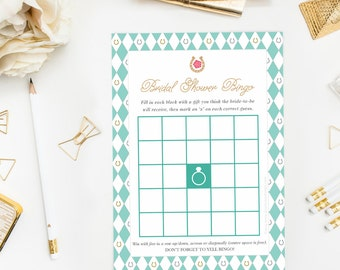 kentucky derby bingo game bridal shower printable game couples shower bachelorette party games instant download spring shower theme
