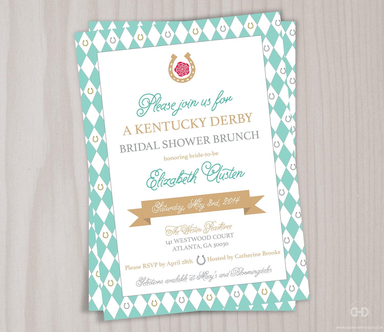 Kentucky Derby Bridal Shower Invitation Bachelorette Garden | Etsy
