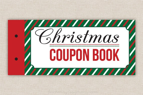 Printable coupons blank christmas coupon book love coupons etsy image 0 solutioingenieria Image collections