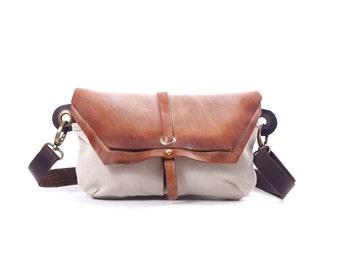 Faded Leather Hip Bag, Shoulder Fanny Pack, Crossbody Fanny Pack, Traveler Bag, Utility Hip Belt, Hip Pouch, Handmade Distressed Leather Bag