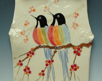 Songbirds Porcelain Scrolls