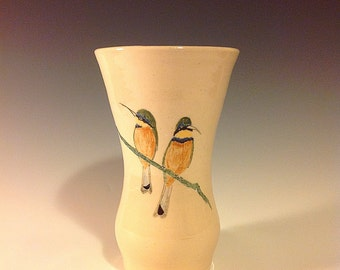 BeeEaters Hand Painted Porcelain Vase