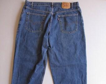 355e1b959 Men's Vintage Levi's Baggy Fit Blue Denim Jeans 42 x 32 Red Tab 41 x 32 USA  90s