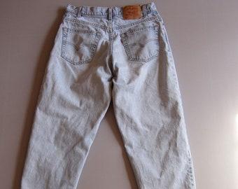 0f4d0f5d7e12 Vintage pour homme Levis Blue Jeans Tag 33   30 Loose Fit 32   29,5 Light  Wash