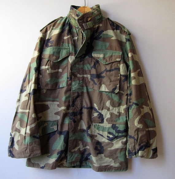 3e3edf29c7b87 Vtg Cold Weather Military Army Field M65 Coat Jacket | Etsy