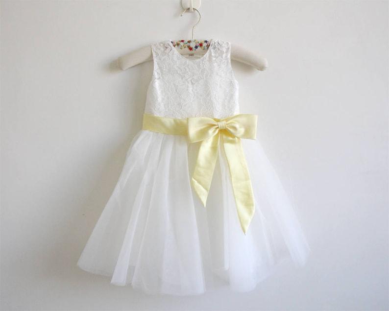 ce458533900 Light Ivory Flower Girl Dress Baby Girl Dress Light Ivory Lace
