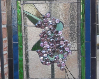 Grapes on the Vine, in Stained Glass