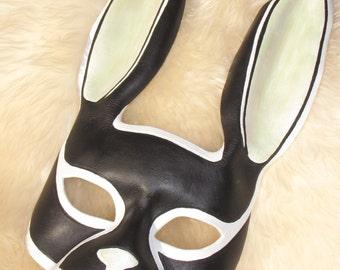 Rabbit Mask Black Tuxedo Masquerade Mask Mardi Gras Mask