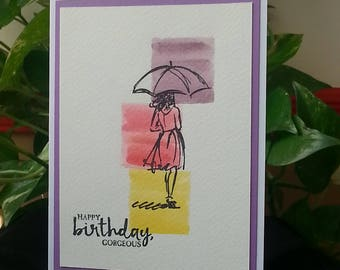 Happy Birthday Gorgeous handmade Birthday card