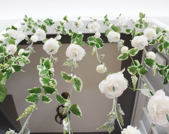 White Flower Garland Wedding Ceremony Backdrop Hanging Wall