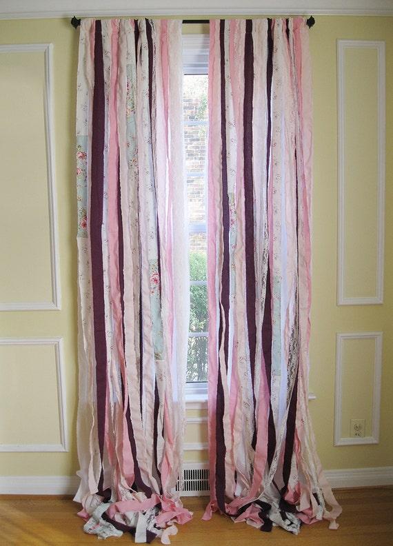 Rideaux en fenêtre Boho Ruban Bohème rideaux Shabby Chic | Etsy