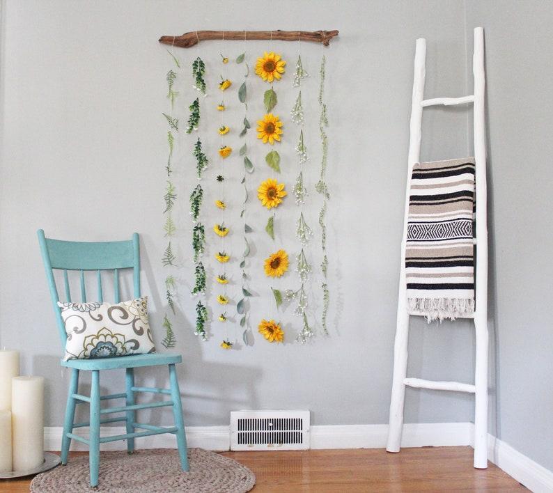 Sunflower Wall Decor Sunflower Wall Hanging Sunflower Decor image 0