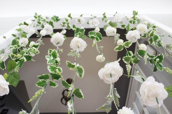 Weisse Blume Girlande Hochzeit Zeremonie Hintergrund Etsy