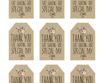 printable wedding favor tags thank you printable tags digital thank you tags rustic thank you tags rustic wedding tags you print