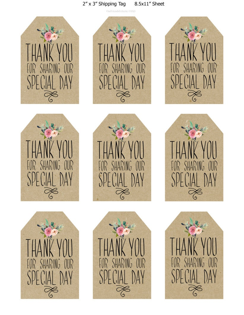 image relating to Thank You Printable Tag known as printable marriage ceremony choose tags, thank yourself printable tags, electronic thank yourself tags, rustic thank yourself tags, rustic marriage tags, your self print