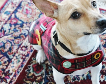 Plaid on Plaid - Couture Dog Coat by JoeysCoat