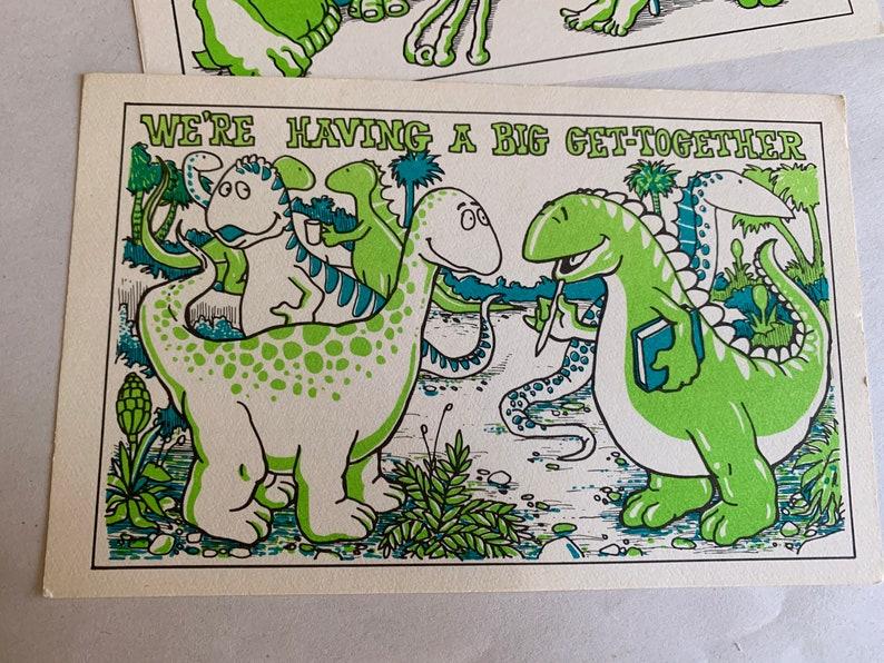 Vintage Neon Green Art Postcard Set by Group Inc.