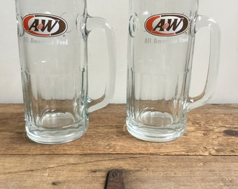A&W Rootbeer All American Food Tall Mug Set Rootbeer Float
