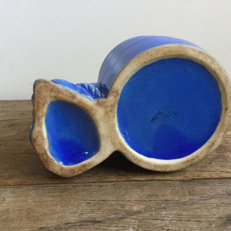 Rare Retro Blue Donkey Planter Japan Ceramic