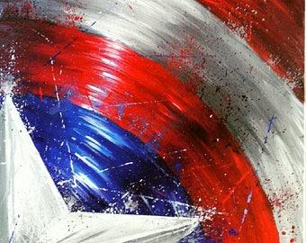 Custom Order Captain America Shield Painting!