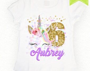 Unicorn Birthday Shirt Image Printable