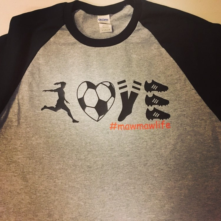 a0c11570 Love Soccer/Mamaw Life/Adult Baseball Mom Jersey/Monogrammed Gifts/Baseball  Jerseys/Raglan Tees/3/4 sleeve tees
