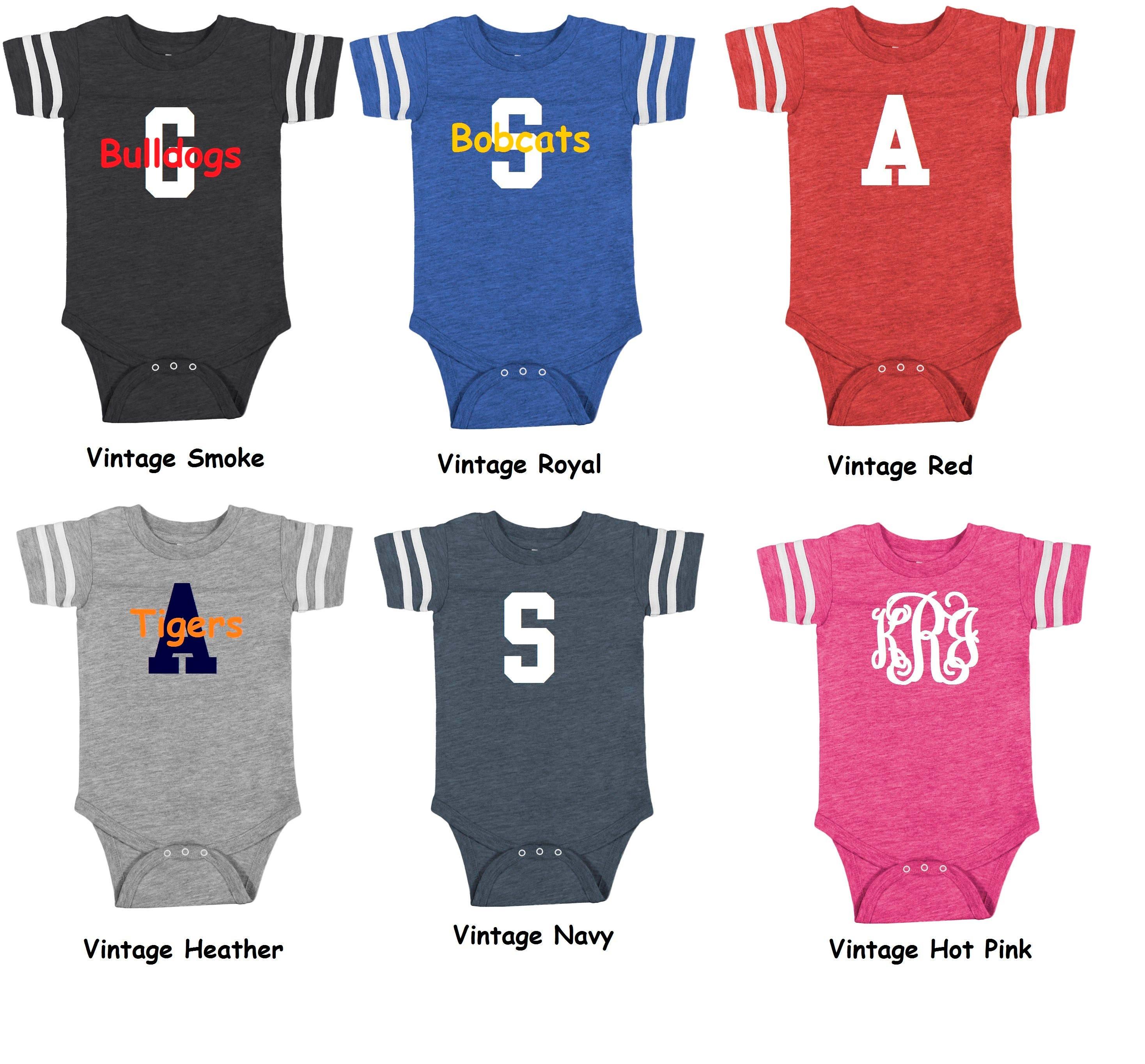 8e29a5a59a4 Monogrammed Infant Football Jersey Bodysuit/Infant Jersey/Infant Football  Shirt/Football Jersey/Football Onesie/Baby Shower Gift