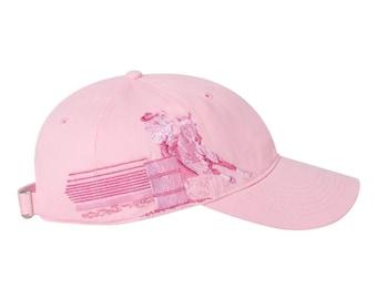 Pink Women's Barrel Racing Cap/Barrel Racing/Monogrammed Gifts