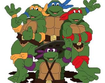 Teenage Mutant Ninja Turtles TMNT Cross Stitch Pattern