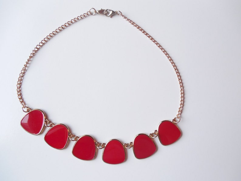 Red and Gold tone Choker