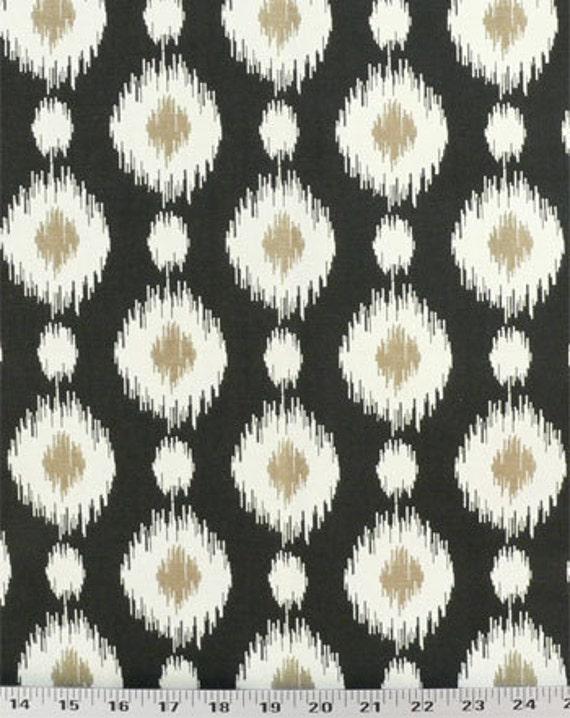 Drapery Upholstery Fabric Southwestern Ikat Polka Dot 100/% Cotton Coral