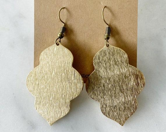 Gold Arabesque Lantern Earrings