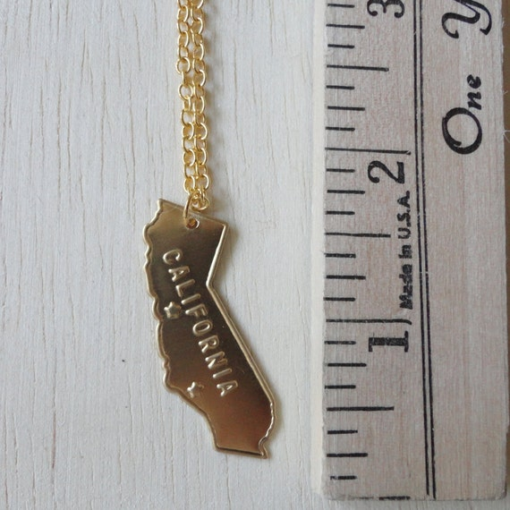 Gold California Necklace