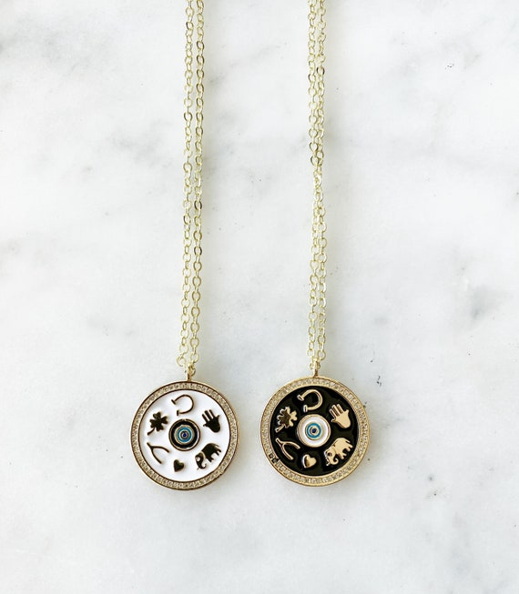Gold-Filled Good Luck Charm Pendant Necklace