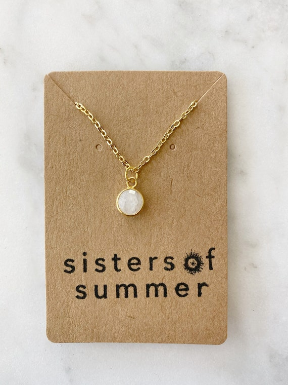 Moonstone Necklace on Goldfilled oR Steel Chain
